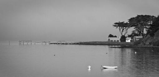 Small skiff on Tomales Bay California