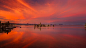 Mono Lake Fiery Sunset