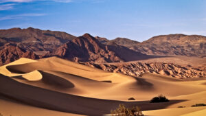 Mesquite dunes Death Valley California