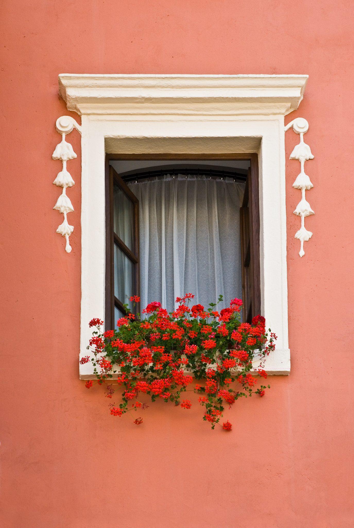 Window on Main Square - Cesky Krumlov - Czech Republic