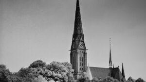 17th century church along river