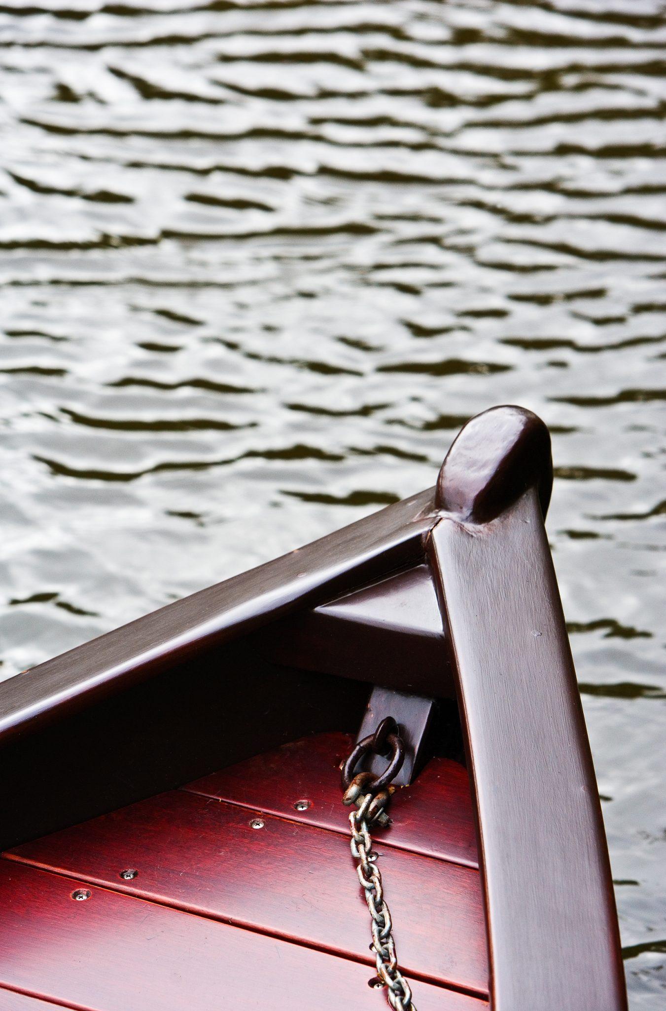 Beautifully kept old wooden row boat