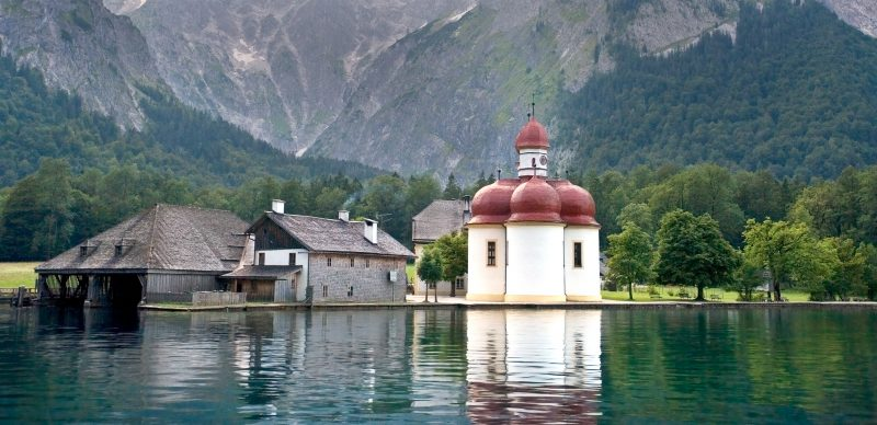 Monastery on Konigsee - Bavaria Germany